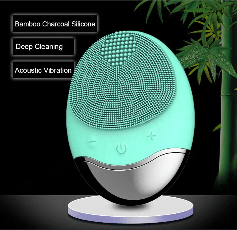 Bamboo Charcoal Facial Cleansing Brush 1