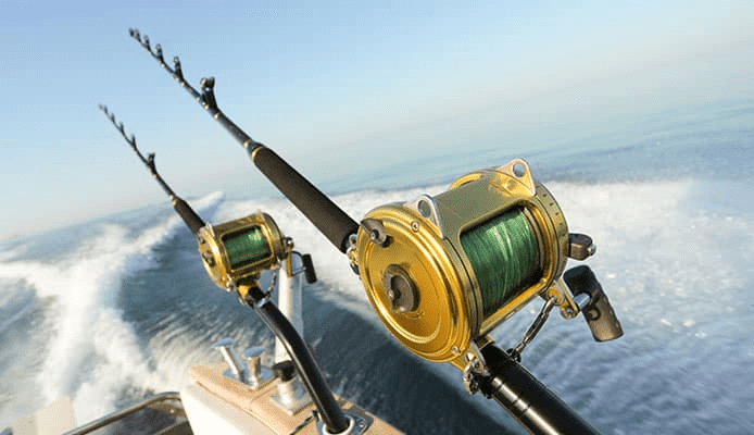 The rod the reel and the sturdy line